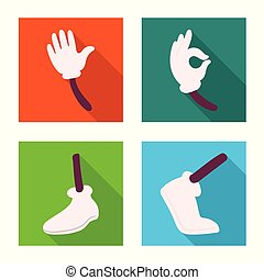 Isolated object of animation and gestures icon. Set of animation and information stock symbol for web.