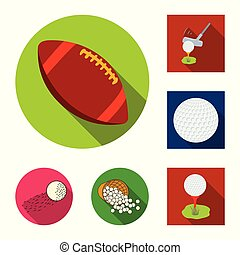 Isolated object of ball and soccer sign. Collection of ball and basketball stock vector illustration.