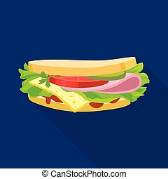 Vector design of bread and burger icon. Web element of bread and hoagie stock vector illustration.