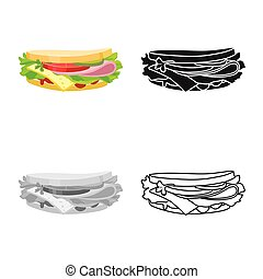 Vector design of bread and burger logo. Web element of bread and hoagie stock symbol for web.