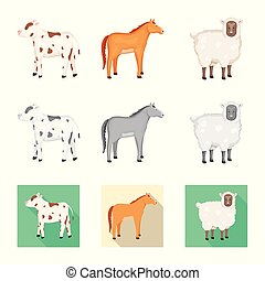 Isolated object of breeding and kitchen icon. Set of breeding and organic vector icon for stock.
