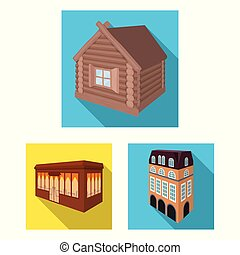 Isolated object of building and city icon. Set of building and business stock vector illustration.