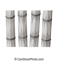 Isolated object of cane and sugar icon. Web element of cane and plant stock vector illustration.