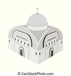 Isolated object of church and orthodox icon. Collection of church and chapel stock symbol for web.