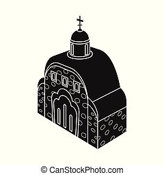 Isolated object of church and orthodox logo. Set of church and chapel stock symbol for web.