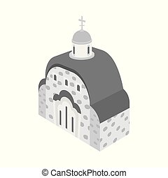 Isolated object of church and orthodox symbol. Collection of church and chapel vector icon for stock.