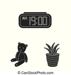 Isolated object of dreams and night sign. Set of dreams and bedroom stock vector illustration.