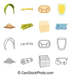 Isolated object of farm and agriculture sign. Collection of farm and sweet vector icon for stock.