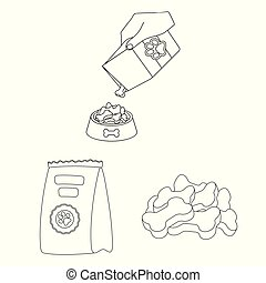 Isolated object of food and tin symbol. Collection of food and bottle vector icon for stock.