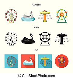 Isolated object of fun and horse logo. Collection of fun and circus stock vector illustration.