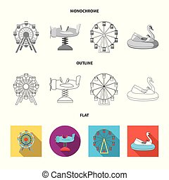 Isolated object of fun and horse sign. Collection of fun and circus vector icon for stock.