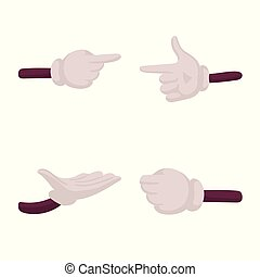 Isolated object of gestures and animation icon. Set of gestures and information vector icon for stock.