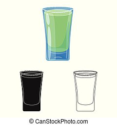 Isolated object of glass and water  symbol. Set of glass and clear vector icon for stock.