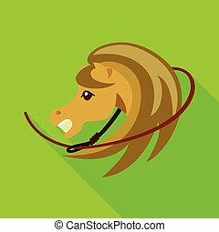 Isolated object of horse and race icon. Set of horse and animal stock vector illustration.