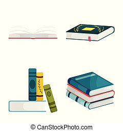 Isolated object of library and bookstore logo. Collection of library and literature stock symbol for web.