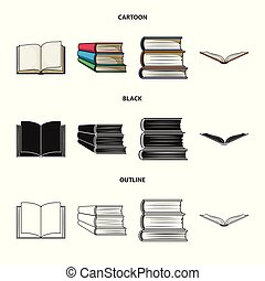 Isolated object of library and textbook logo. Set of library and school stock symbol for web.