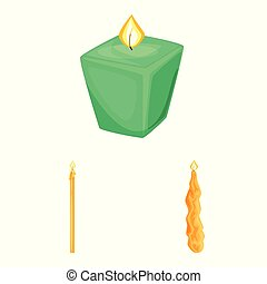 Isolated object of light and wax logo. Collection of light and ceremony vector icon for stock.