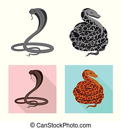 Isolated object of mammal and danger logo. Collection of mammal and medicine vector icon for stock.