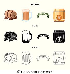 Isolated object of minimal and pint icon. Collection of minimal and craft stock vector illustration.