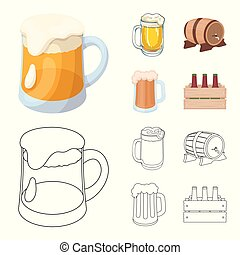 Isolated object of minimal and pint sign. Collection of minimal and craft stock vector illustration.