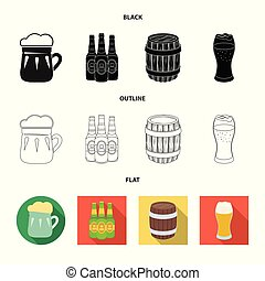 Isolated object of minimal and pint symbol. Collection of minimal and craft stock vector illustration.