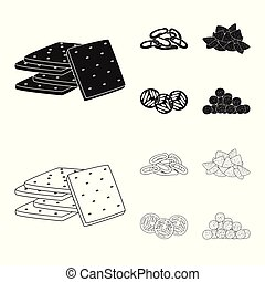 Isolated object of Oktoberfest and bar icon. Collection of Oktoberfest and cooking stock vector illustration.
