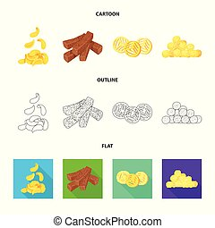 Isolated object of Oktoberfest and bar icon. Set of Oktoberfest and cooking vector icon for stock.