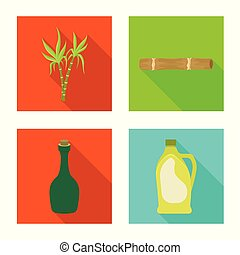Isolated object of organic and environmental icon. Set of organic and tropical vector icon for stock.