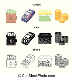 Isolated object of payment and loan sign. Collection of payment and financial stock vector illustration.