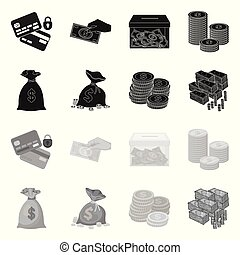 Isolated object of payment and loan symbol. Collection of payment and financial stock vector illustration.