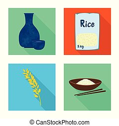 Isolated object of raw and agricultural sign. Collection of raw and ecological vector icon for stock.