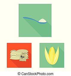 Isolated object of raw and agricultural symbol. Collection of raw and ecological vector icon for stock.