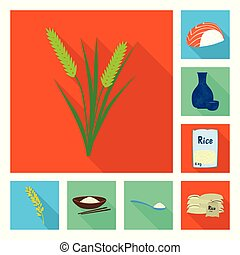 Isolated object of raw and agricultural symbol. Set of raw and ecological vector icon for stock.