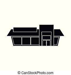Isolated object of shop and facade icon. Set of shop and exterior stock symbol for web.
