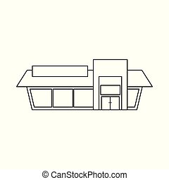 Isolated object of shop and facade symbol. Collection of shop and exterior stock vector illustration.