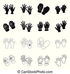 Isolated object of silhouette and safety symbol. Collection of silhouette and comfort stock vector illustration.