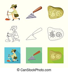 Isolated object of story and items icon. Set of story and...