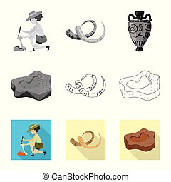 Isolated object of story and items symbol. Set of story and...