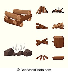 Isolated object of timber and nature logo. Collection of timber and construction stock vector illustration.