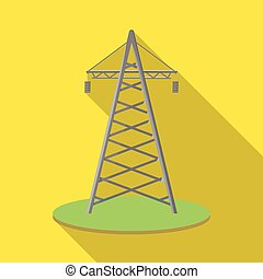 Isolated object of tower and transmission icon. Set of tower and voltage vector icon for stock.