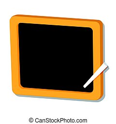 Isolated of black board - vector illustration