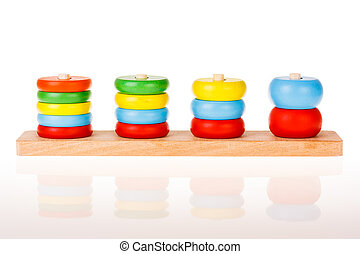 colorful wooden children toy