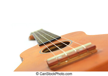 Isolated of ukulele on the white background