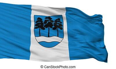 Isolated Ogre city flag, Latvia - Ogre flag, city of Latvia,...