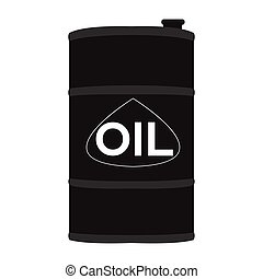 Isolated oil barrel