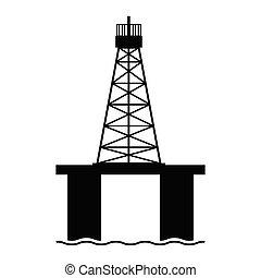 Isolated oil platform icon. Vector illustration design
