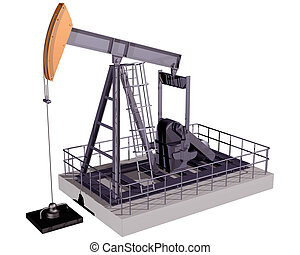 Isolated Oil Rig - Isolated illustration of an oil rig