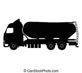 Isolated oil truck