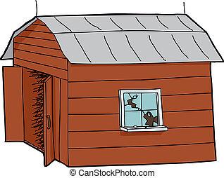 Isolated Old Barn