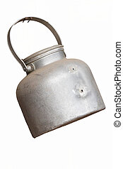 isolated old kettle
